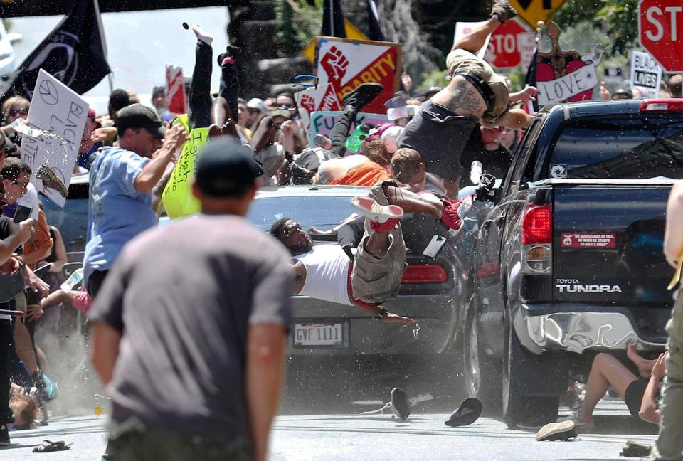 James Fields Jr. plowed into an anti-racism rally in Charlottesville in August 2017. (Photo: Associated Press)