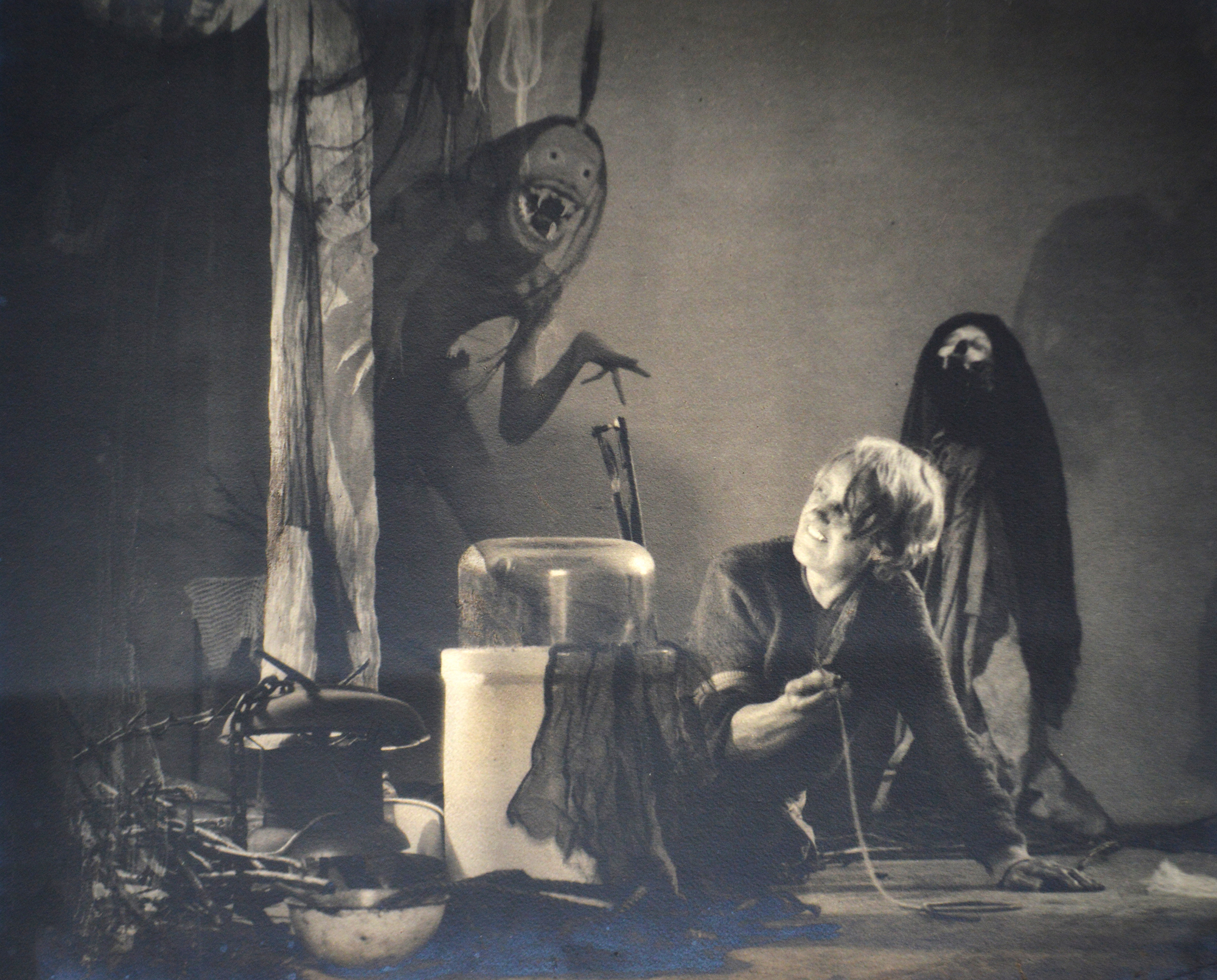 "William Mortensen (1897 - 1965). ""The Old Hag with Incubus"", circa 1928. Photograph Courtesy of Stephen Romano Gallery"