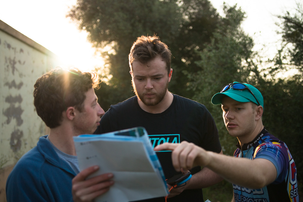 © Harry Crotty: Team map checking, Tom read, Billy helped, Luke helped, Harry took photos and I watched
