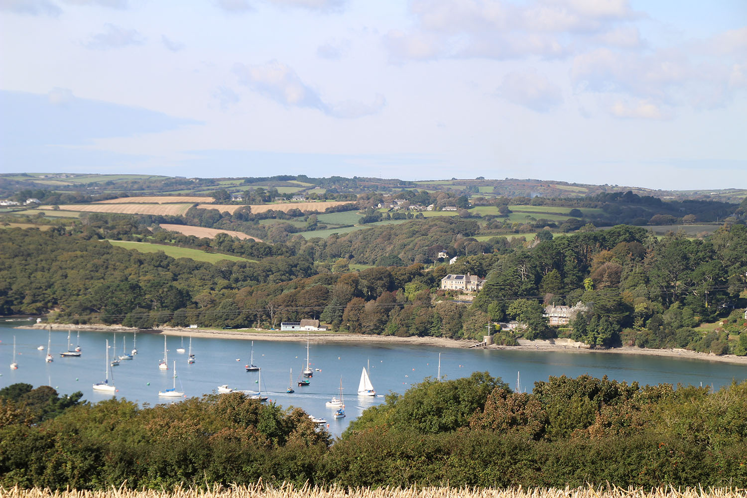 View above the helford river