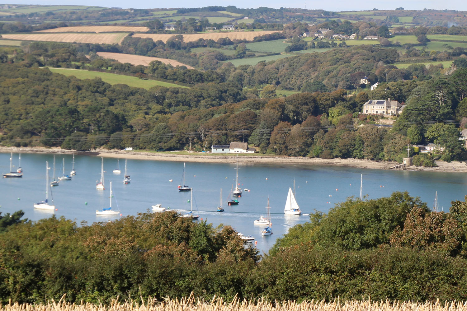 View from the hill above Helford