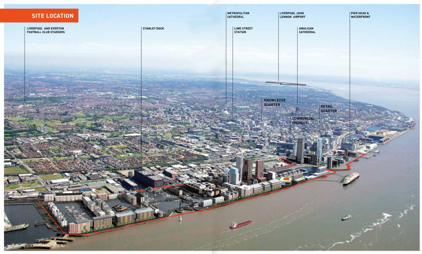Stanley Dock is in the middle of Liverpool Waters masterplan - click to enlarge image