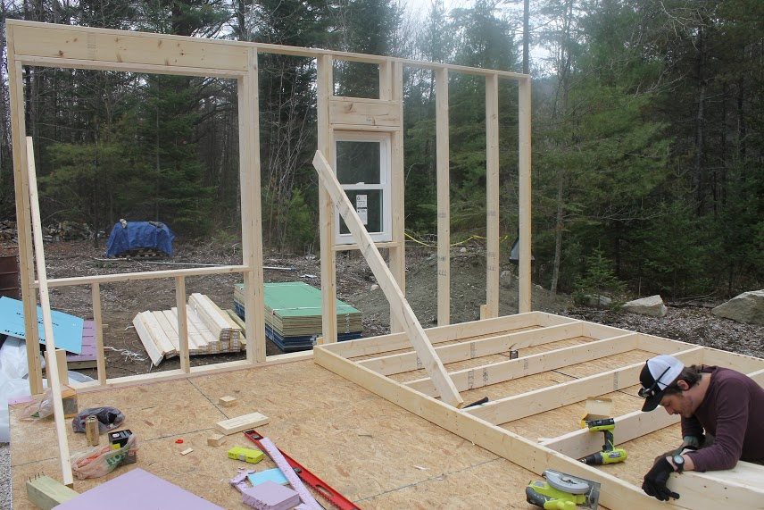Framing the cabin walls