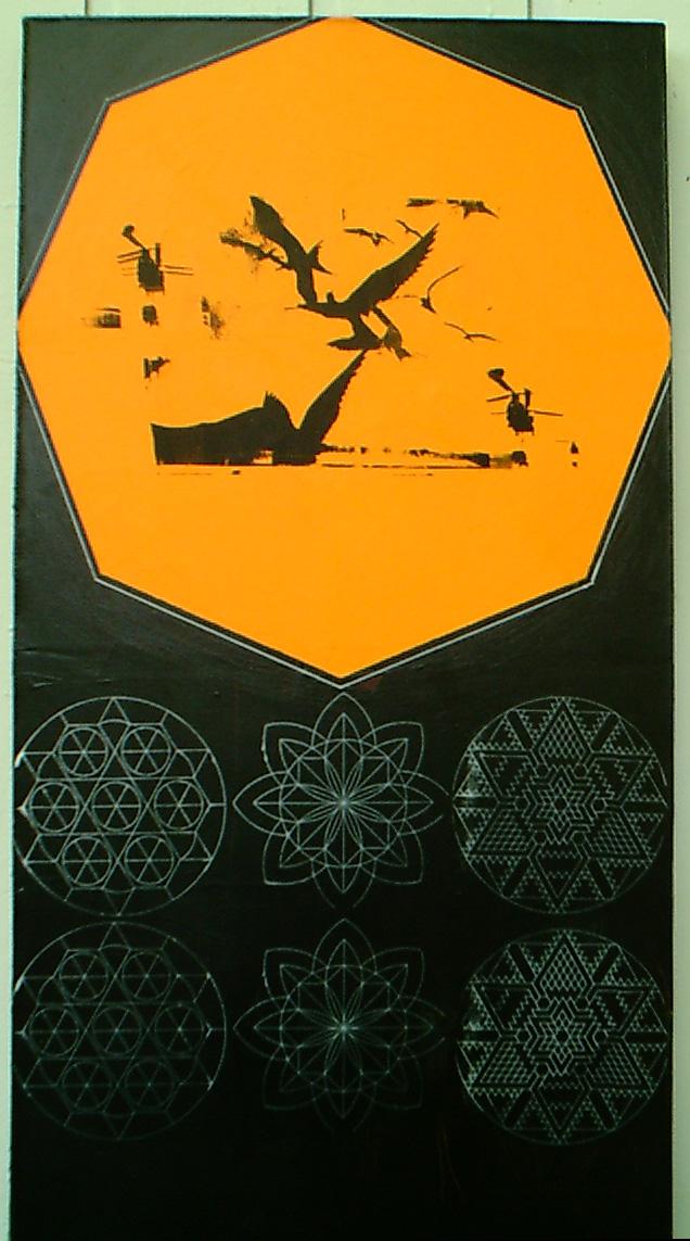 Untitled (Orange Octagon) - 2001