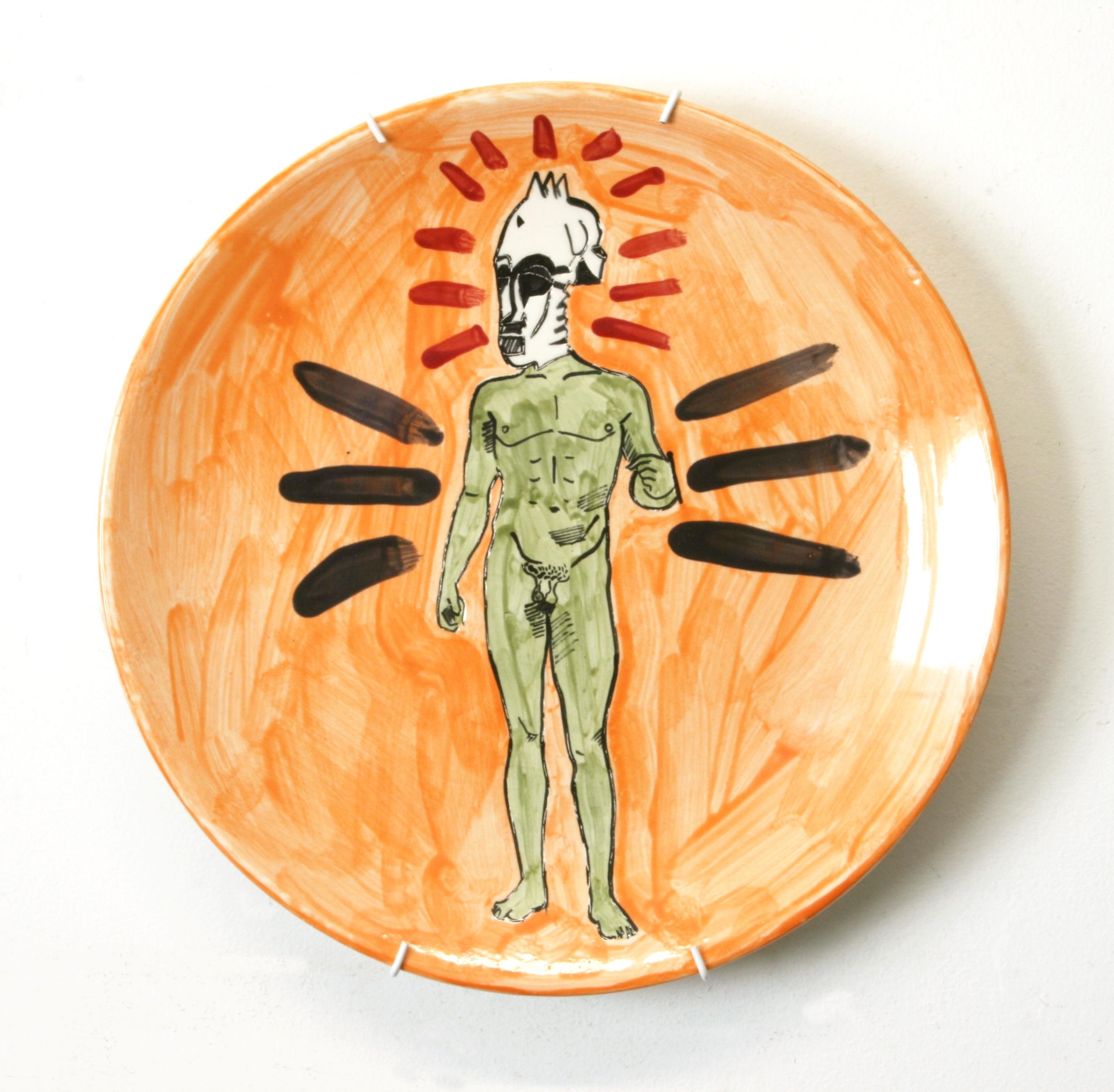 Man & Mask Plate
