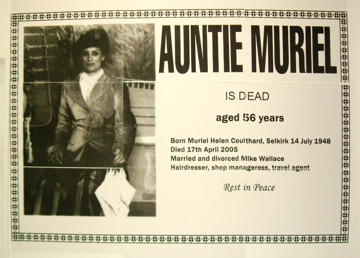 Untitled (Auntie Muriel is Dead)