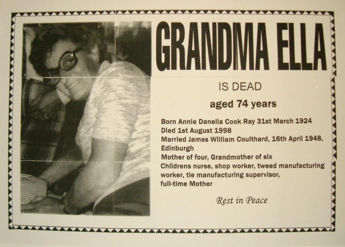 Untitled (Grandma Ella is Dead)