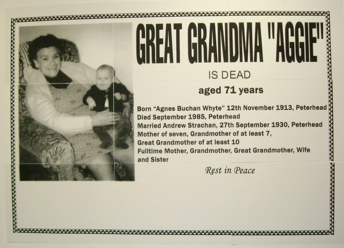 Untitled (Great Grandma Aggie is Dead)