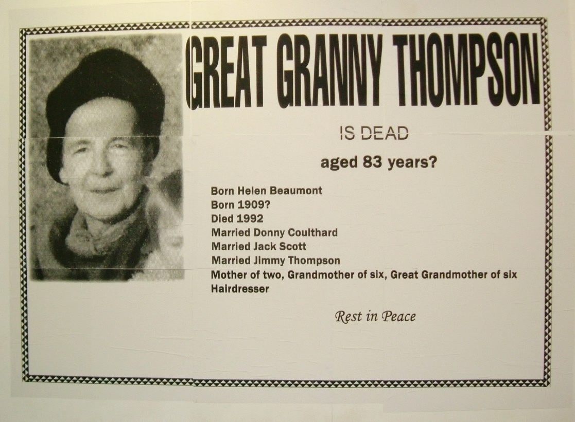 Untitled (Great Granny Thompson is Dead)