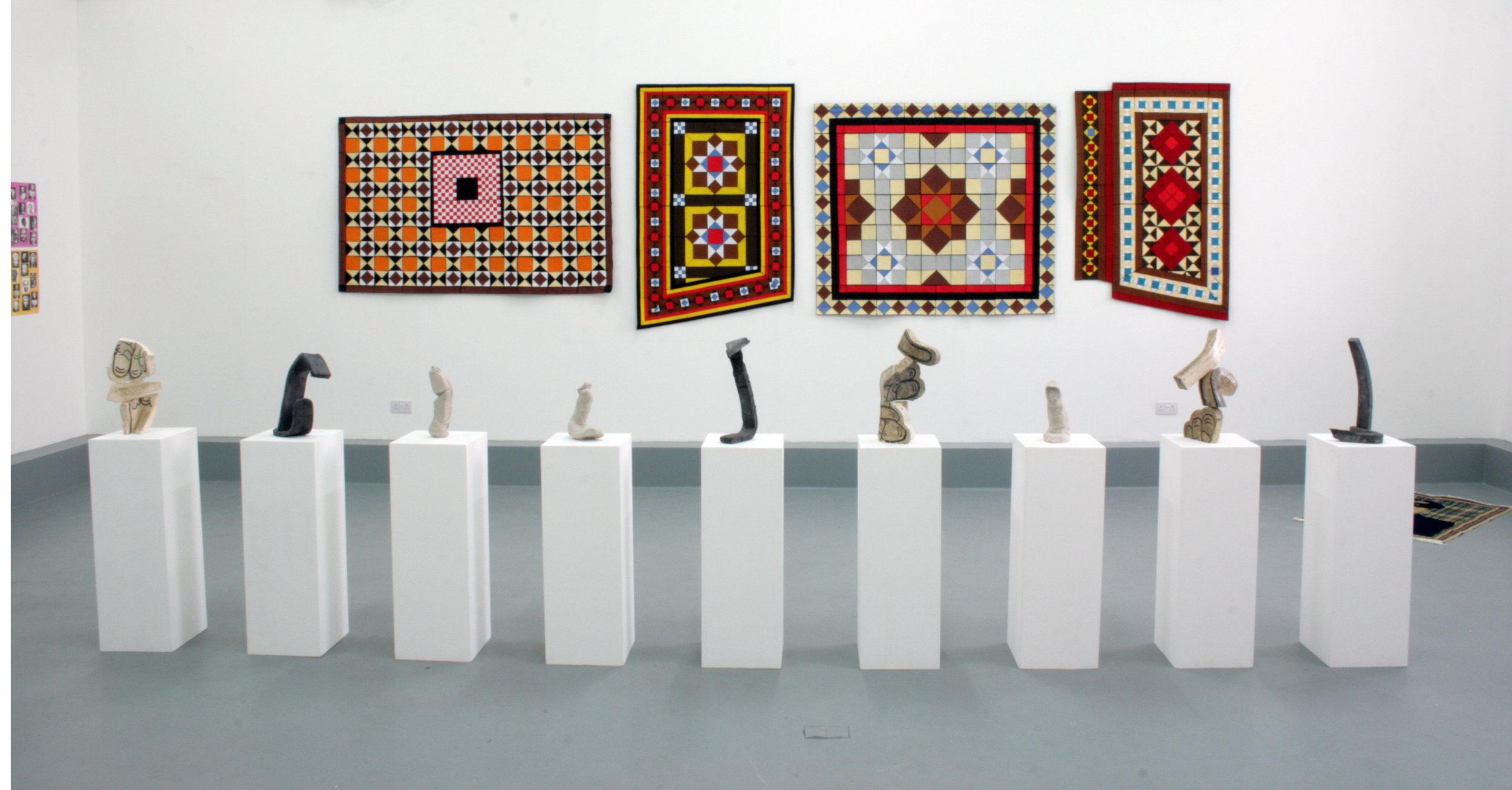 Various wall hangings
