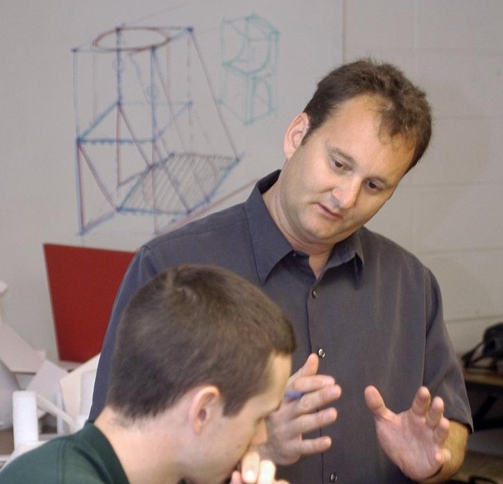Steve in his element as a professor of Industrial Design at the University of Cincinnati. Photo courtesy of the Cincinnati Business Journal. Click photo for the link.