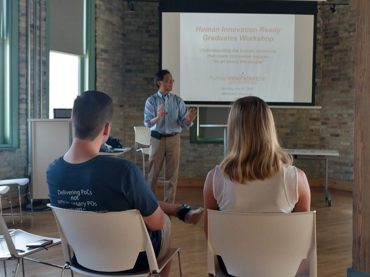 Johann Wong of JouleWatt introducing Human Innovation thinking.