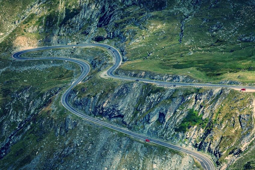 The final km of the Transfagarasan.