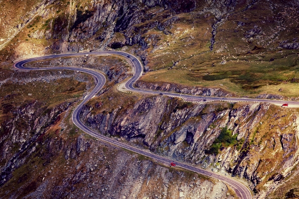 The Transfagarasan Highway in Transylvania, Romania.