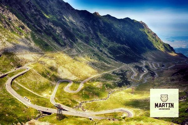 The Transfagarasan Highway in Transylvania, Romania. Copyright Martin Adventures, Road Cycling Tour.