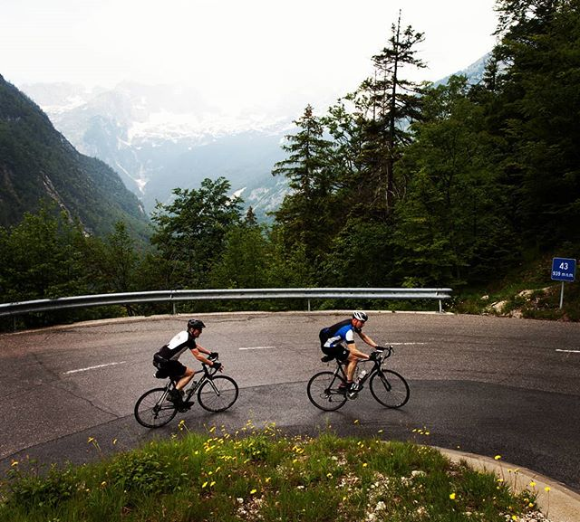 Climbing the Vrsic Pass in the Julian Alps in Slovenia is just one of the highlights of our Slovenia Epic cycling tour. ❤️The road has 50 hairpins and what we love is that most of them are cobbled. 👍 . . . . . . #slovenia #croatia #romania #cycling #roadcycling #roadporn #martinadventures #balkans #adventure #roadbike #bikestagram #cyclinglife #stravacycling #instacycling #rideyourbike #ilovemybike #cyclists #lovecycling #instacycle #cyclinglove #instabicycle #cyclistlife