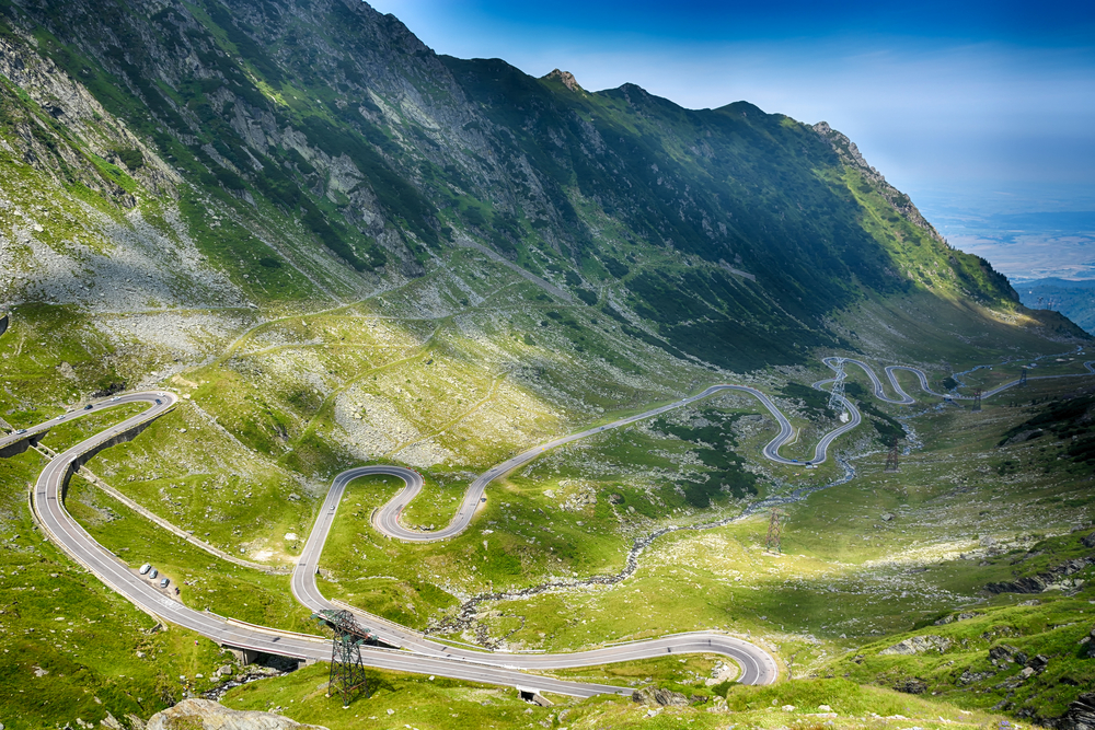 Transfagarasan Highway in Romania. Copyright Martin Cycling Adventures