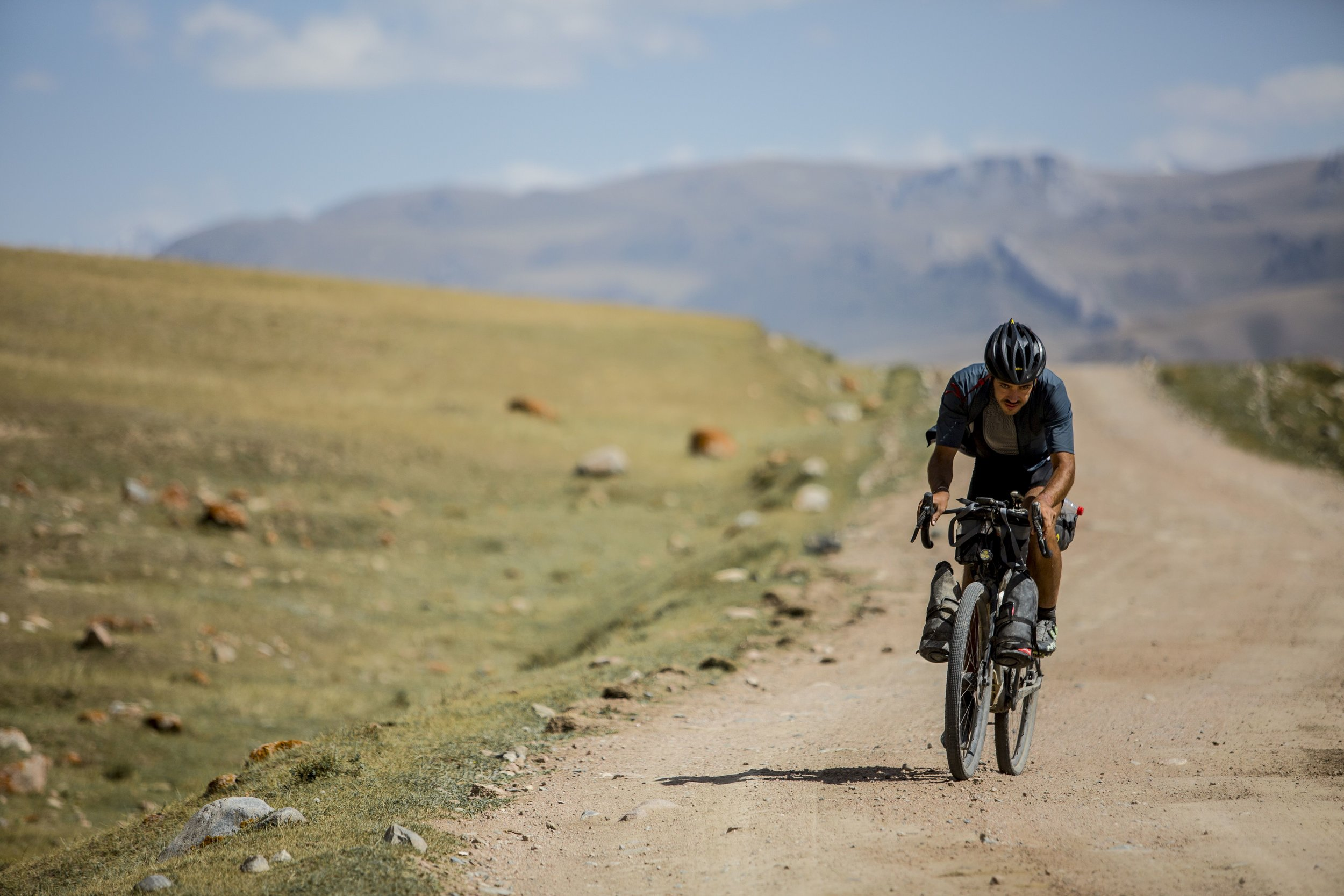 Levi at the Silk Road Mountain Race in 2018. Photo by  Giovanni Maria Pizzato