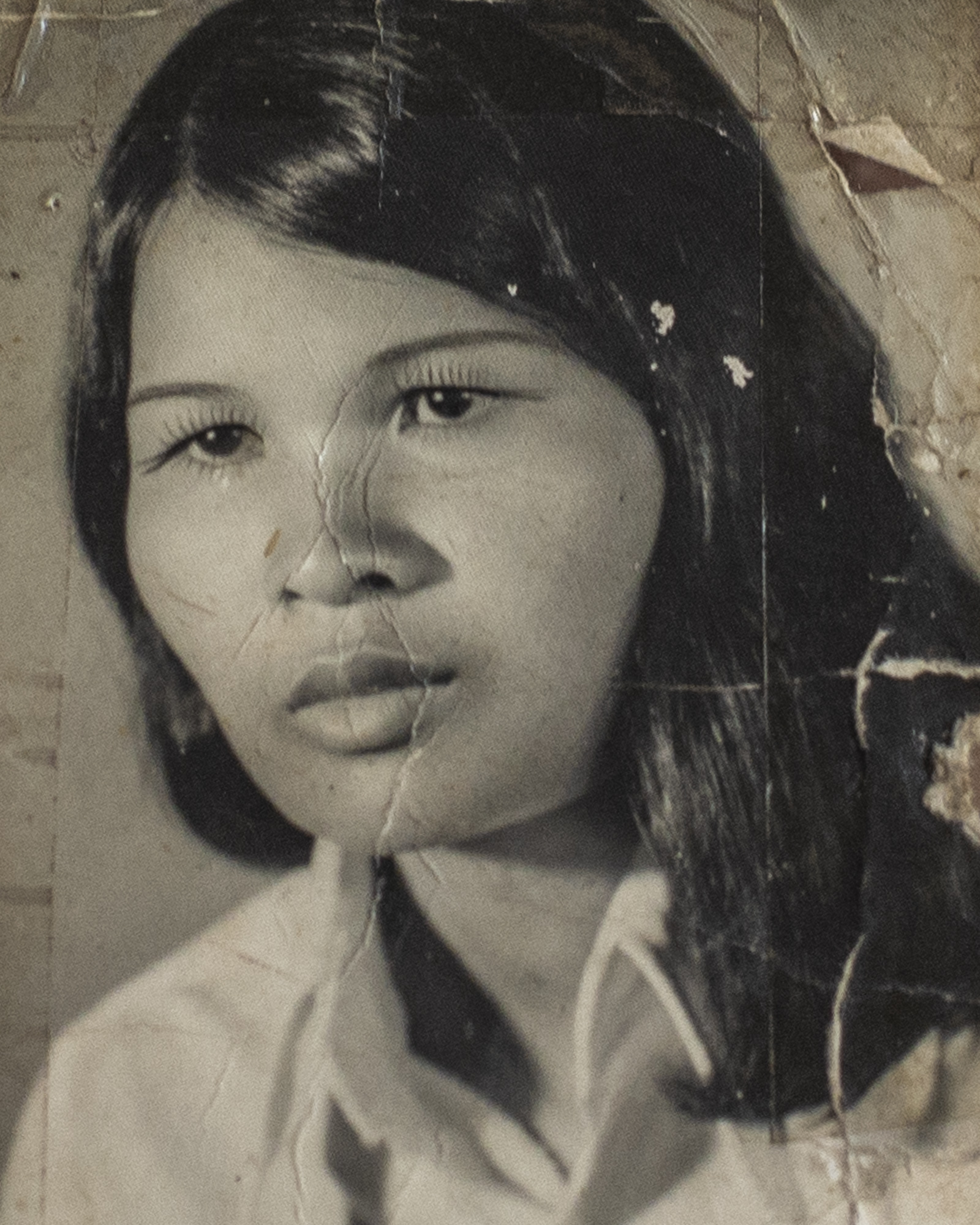 Chia after Pol Pot's regime; her second husband and two kids.