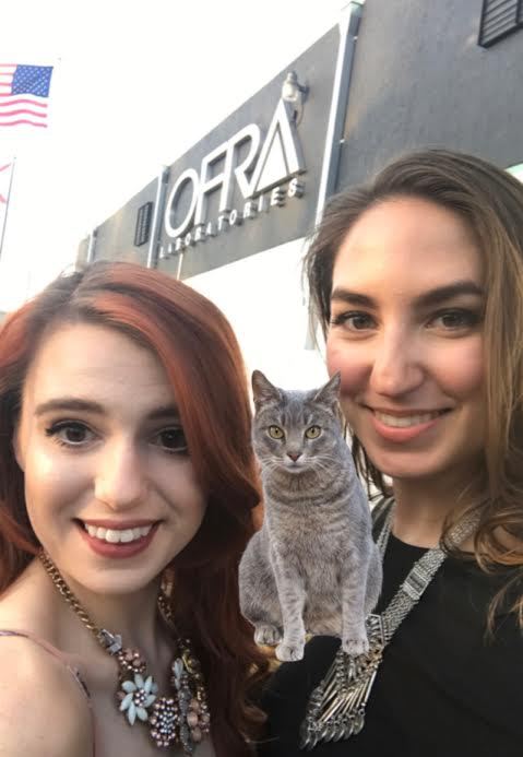 We added a cat bc 1) who doesn't love cats and 2) the person behind us would not have appreciated that their candid facial expression had been permanently captured.