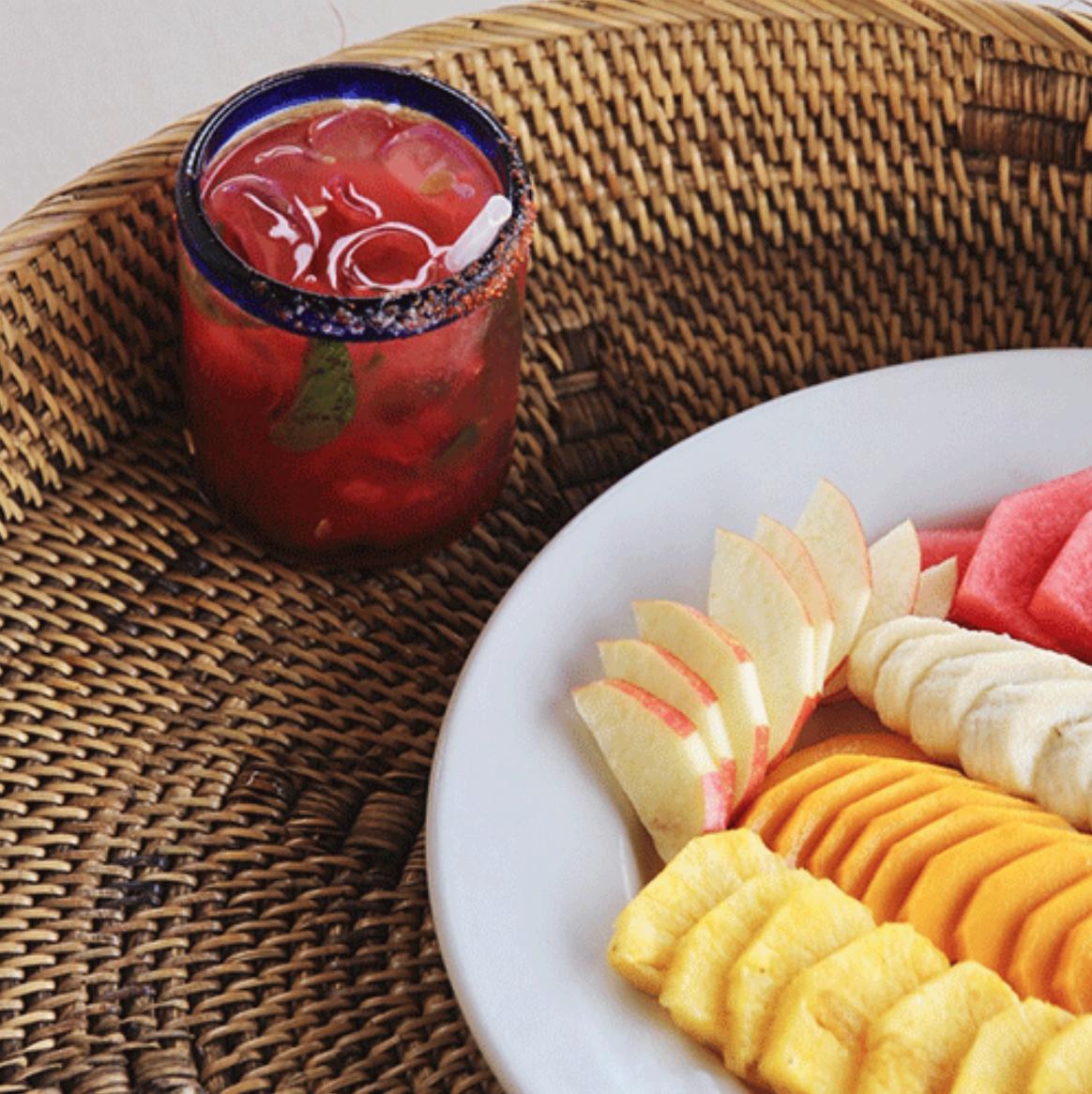 breakfast - ● fresh fruit● yogurt● amaranth● eggs