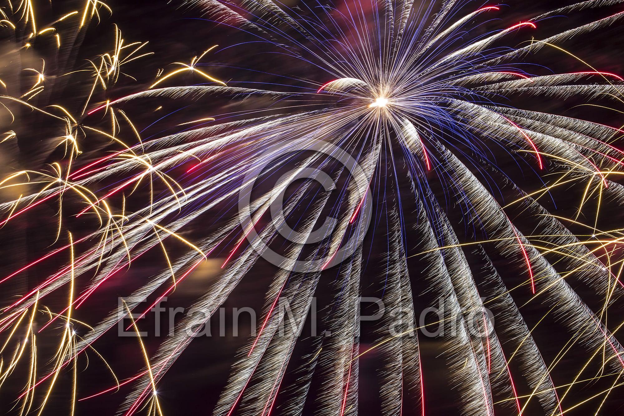 Fireworks, Albuquerque International Balloon Fiesta, Albuquerque, New Mexico