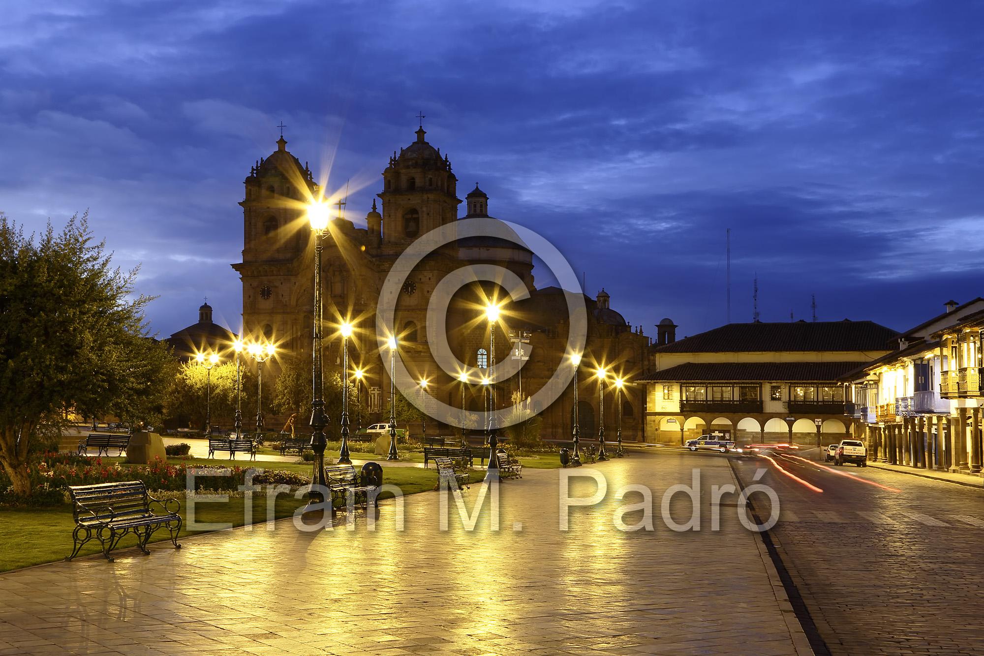 La Compania de Jesus (The Company of Jesus) Church on the Plaza de Armas, Cusco, Peru