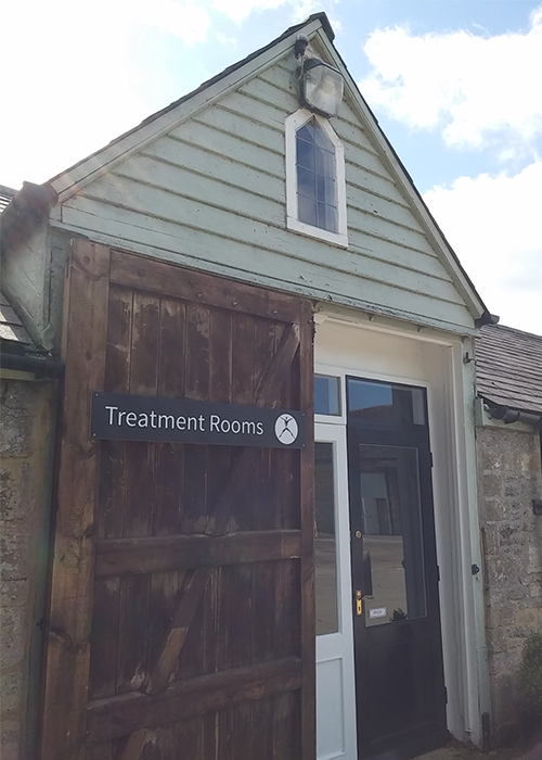 Helen's treatment room in Clanfield, Oxfordshire.