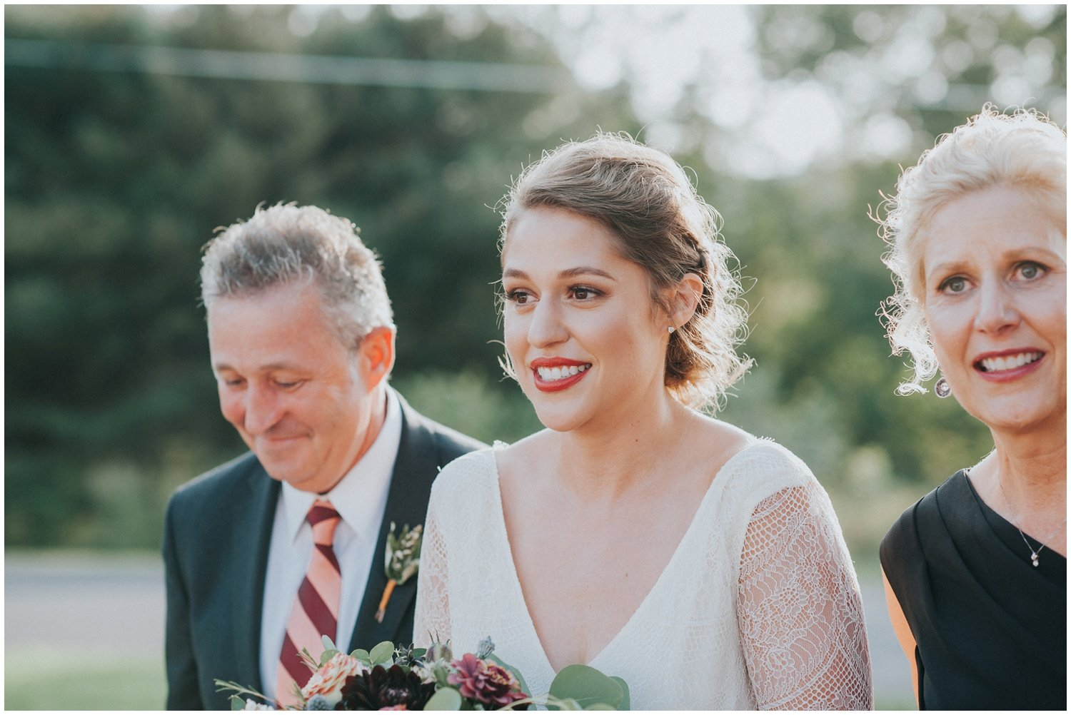 Makeup by Leah Francesca // Hair by Ash Pardee of Fire & Ash // Photography by  Jessie Casey Photography // Wedding Event Designer by Mary Elise Reese Event Design // Dress from True North Bridal  // Flowers by Poppytree Floral