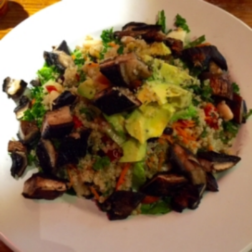 Quinoa Power Portobello Salad at Veggie Grill