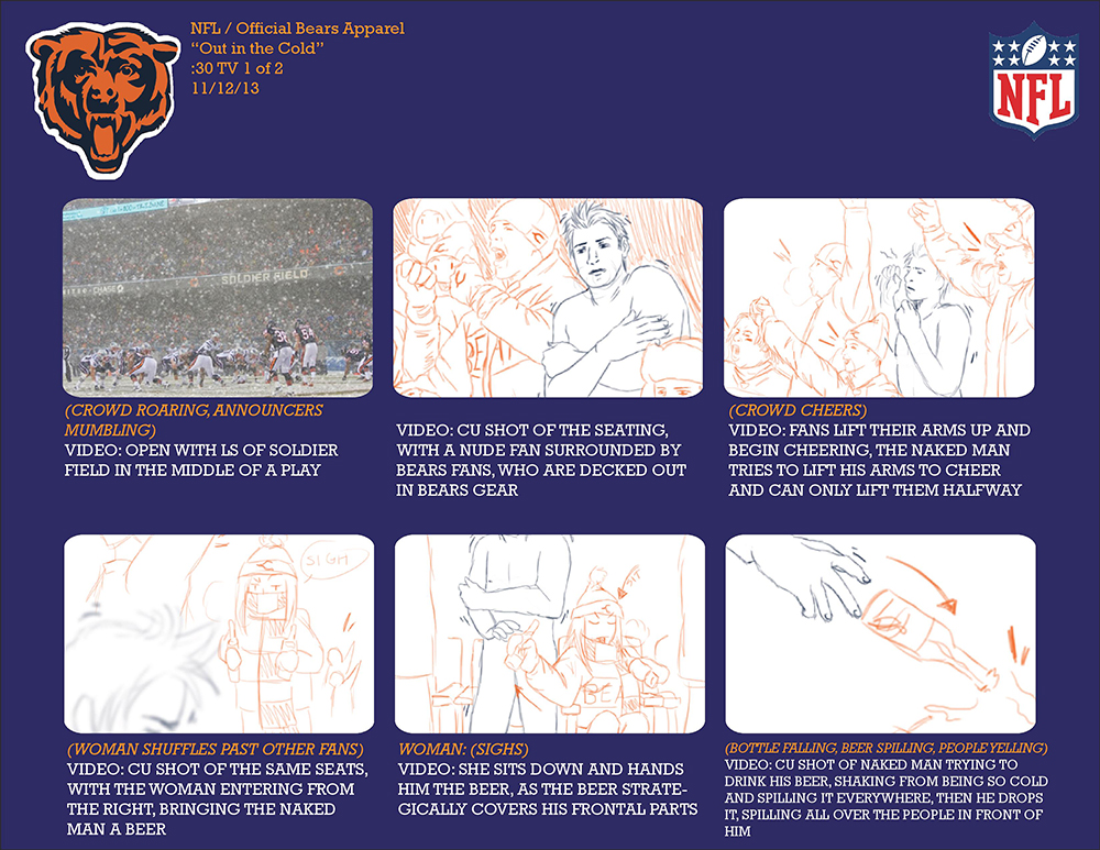 Bear Apparel Storyboard 1/2