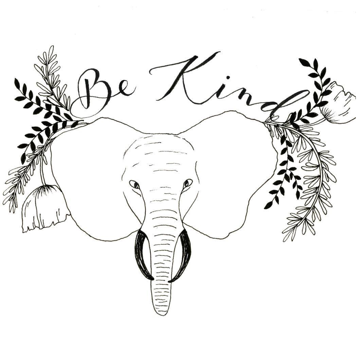 Be Kind  Exploration in ink and hand calligraphy