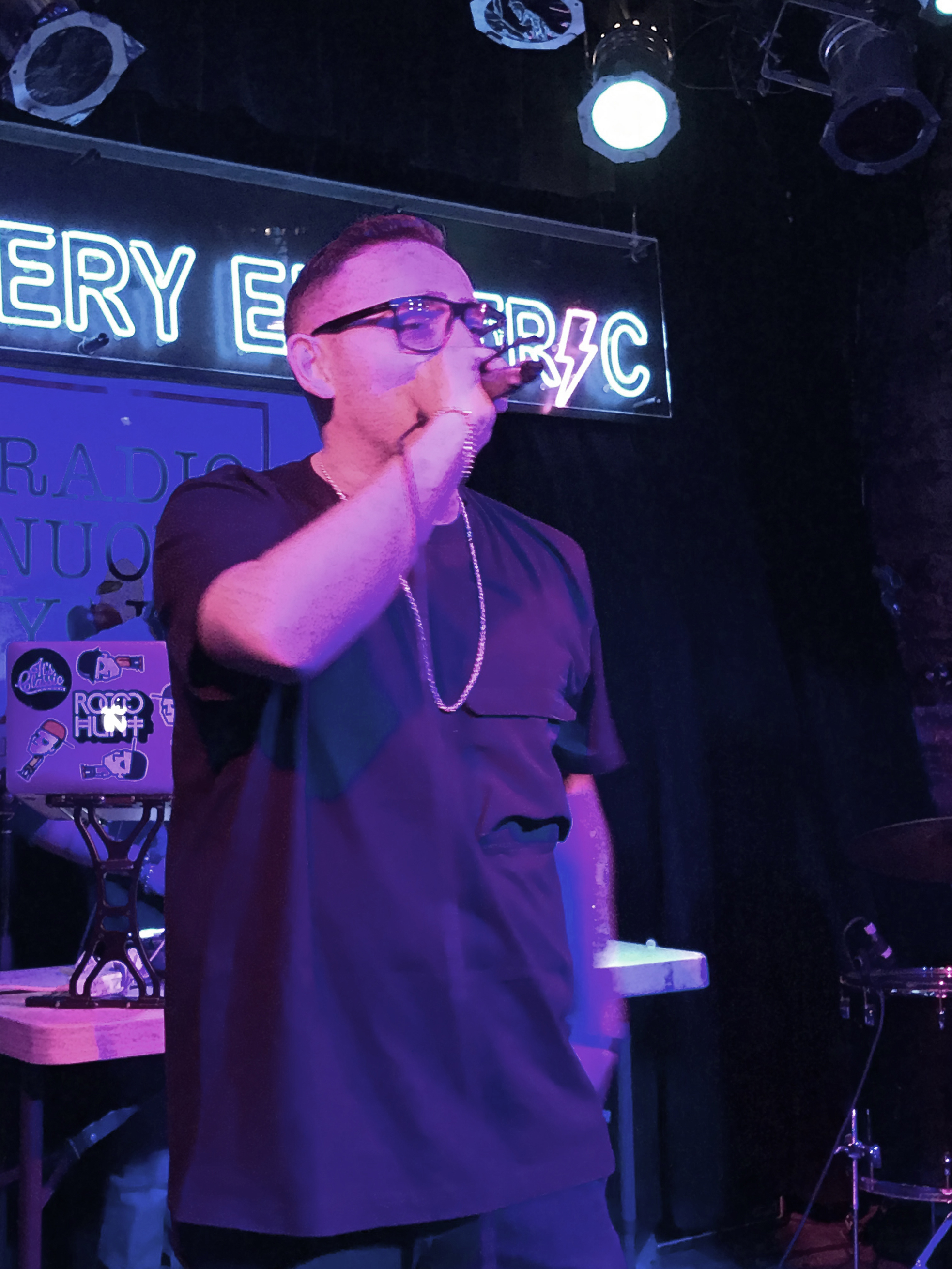 Rocco Hunt performing at The Bowery Electric, New York City