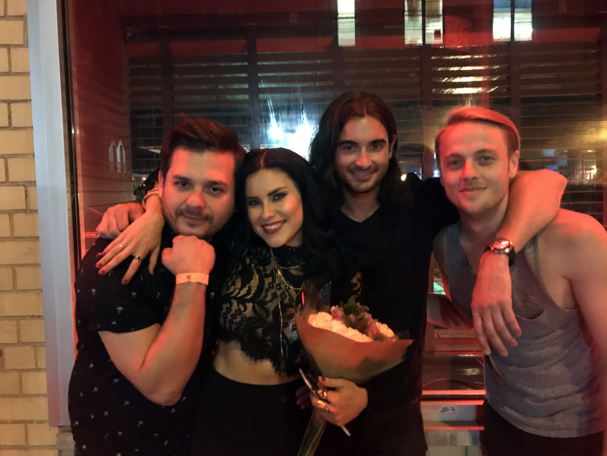 FROM LEFT TO RIGHT: Dmitry Libman, Alexandra Amor, Andrew Lynch, Johnny Coryn  PHOTO CREDIT: Musical Notes Global