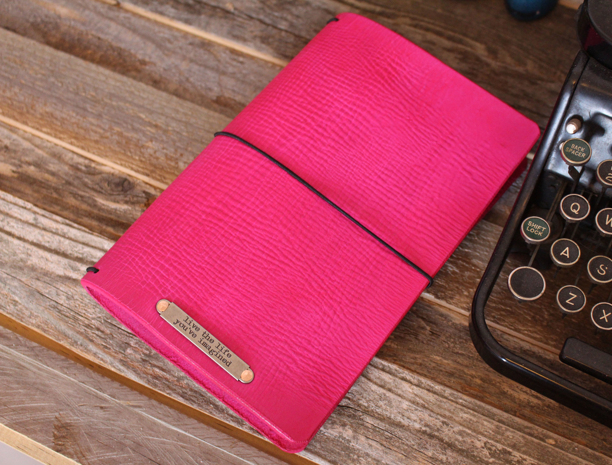 13 Sizes Nude Leather Quill Travelers Notebook Trifold Notebook Cover