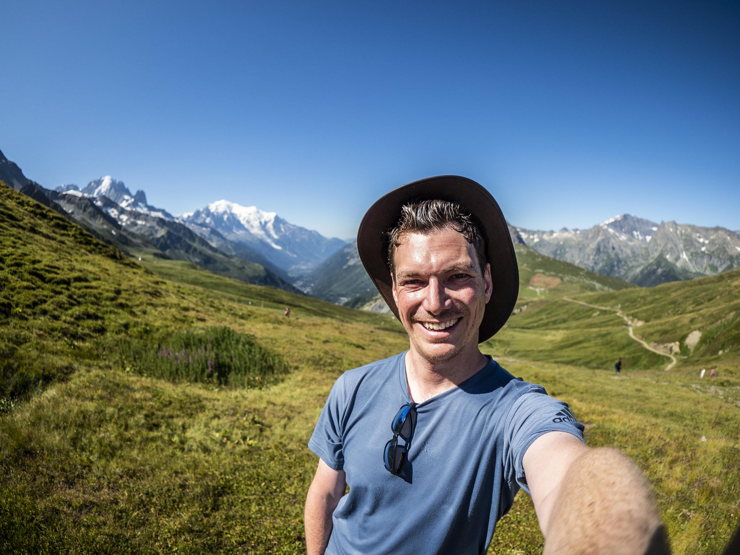 A self portrait taken at Mont Blanc.