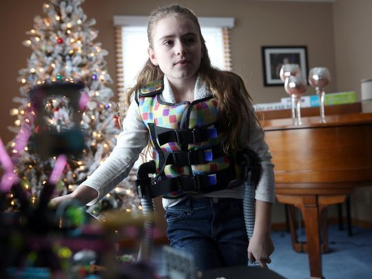 USA TODAY COVERS BRIANNA - Jeff DiVeronica, Rochester (N.Y.) Democrat and Chronicle - Girl, 11, with cystic fibrosis to sing at 3rd NFL game