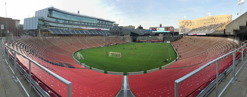 Traditionally the home venue for the University of Cincinnati's football program, Nippert Stadium has been transformed to suit FC Cincinnati as well.  Image Via Nick Listerman.