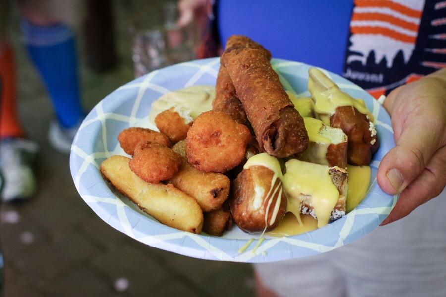 Mecklenburg buffet offerings.
