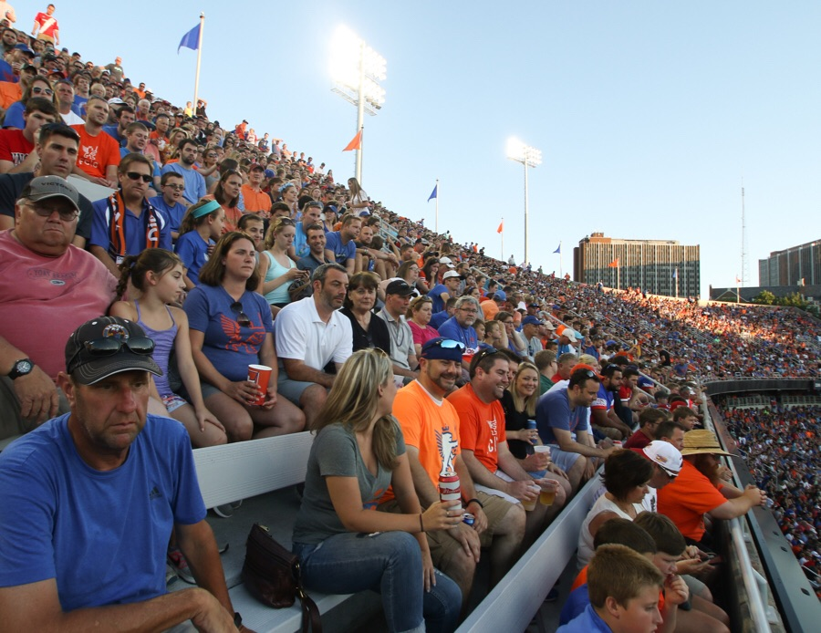 The upper deck filled to capacity.