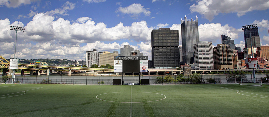 Pittsburgh's stadium has a nice view and for once, will finally have some fans in the seats when we attend on April 1.