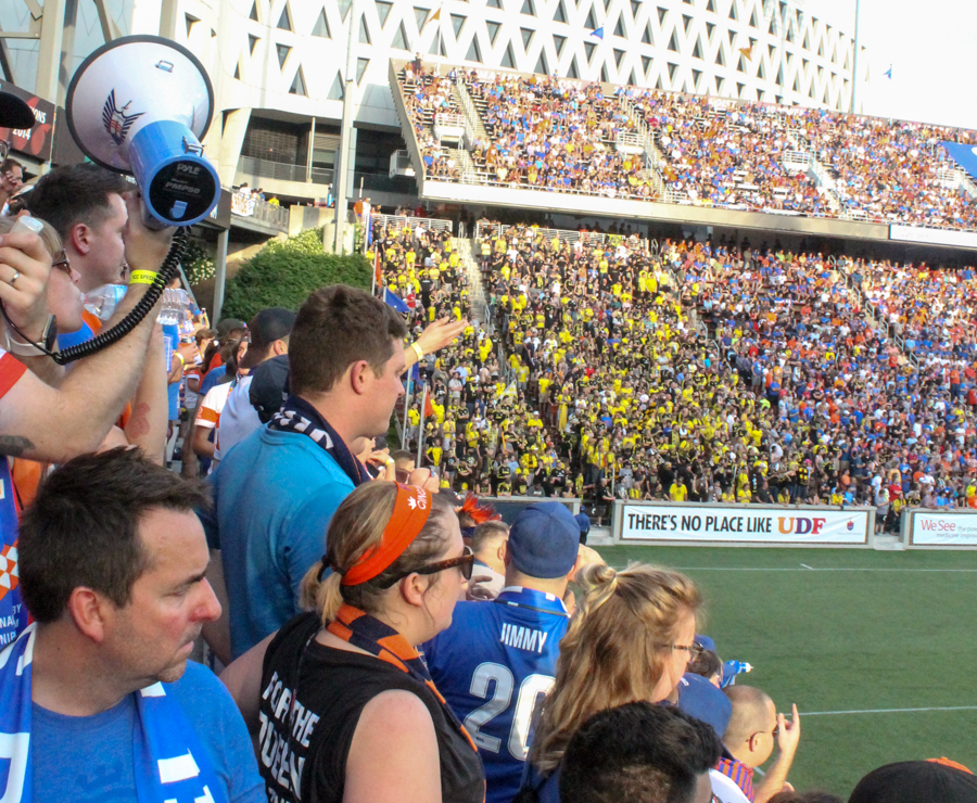 A large faction of Columbus Crew fans made the trip down.