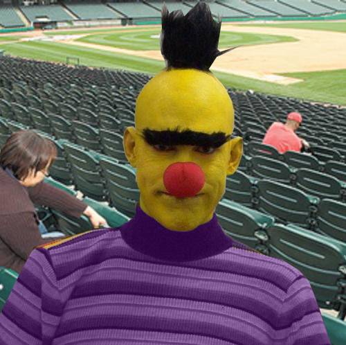 """Daniel Primdonkis, aka """"Lou City Bert""""leads the """"Sesame Street Hooligans,"""" a supporters group inspired by the iconic children's show."""