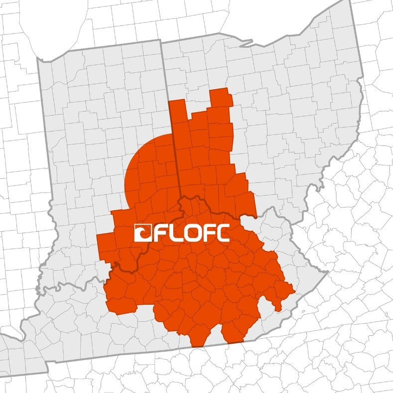 Orange shows the areas impacted by the FloFC deal.