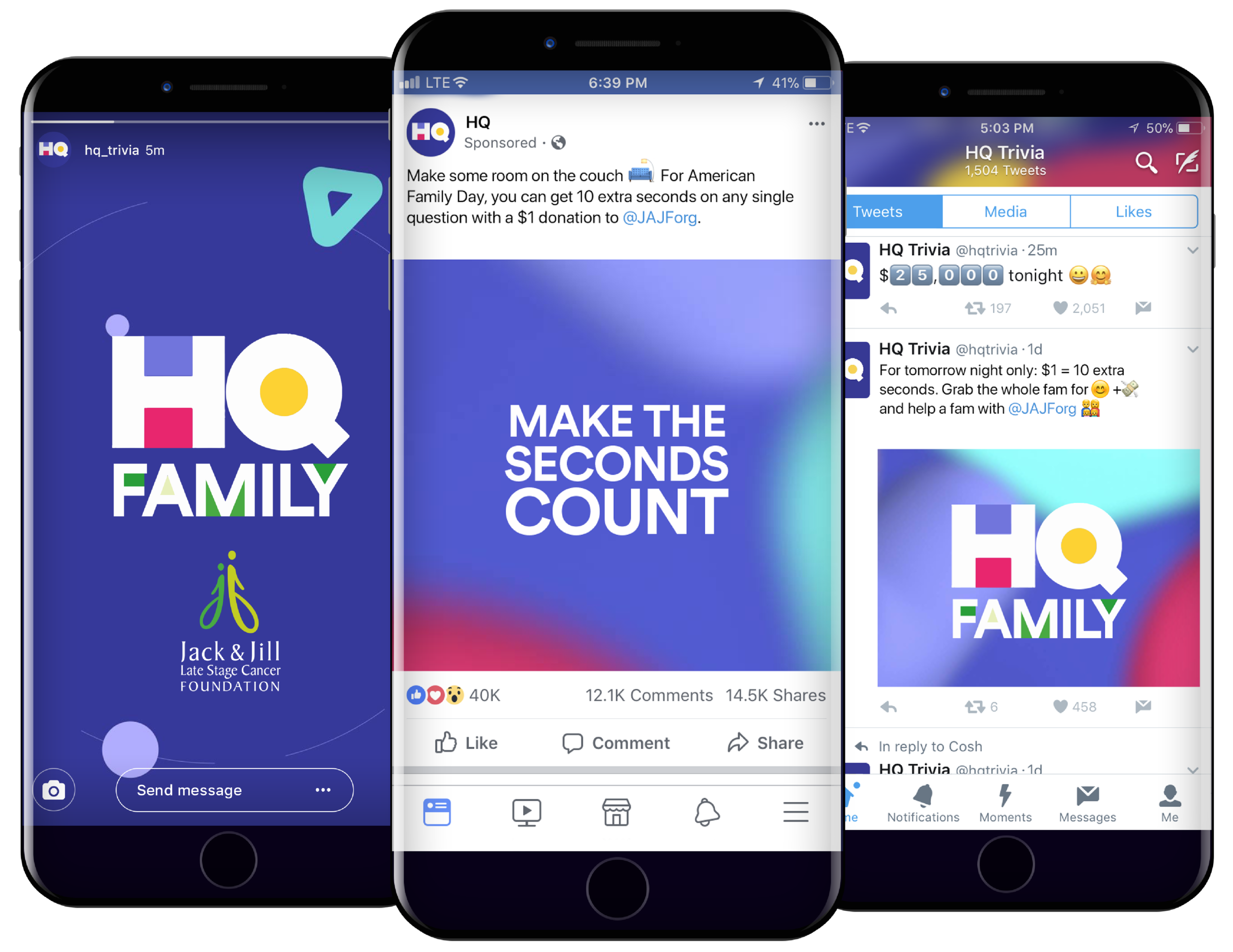 Social Buildup - The day before American Family Day, we'll rollout tweets, ads on Instagram Stories, and sponsored Facebook posts to our hyper-connected audience.