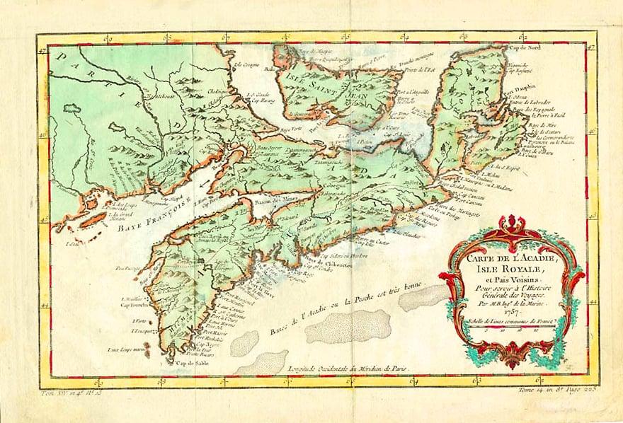 Acadie (present-day Nova Scotia) in the 1750s