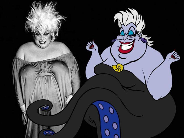 Zie de gelijkenis tussen Divine en Ursula...