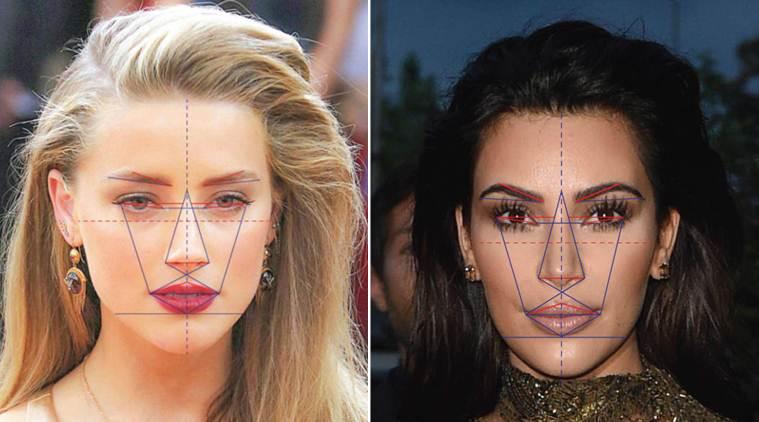 Amber Heard en Kim Kardashian, de twee meest aantrekkelijke vrouwen ter wereld, hebben unieke verhoudingen in het gezicht.