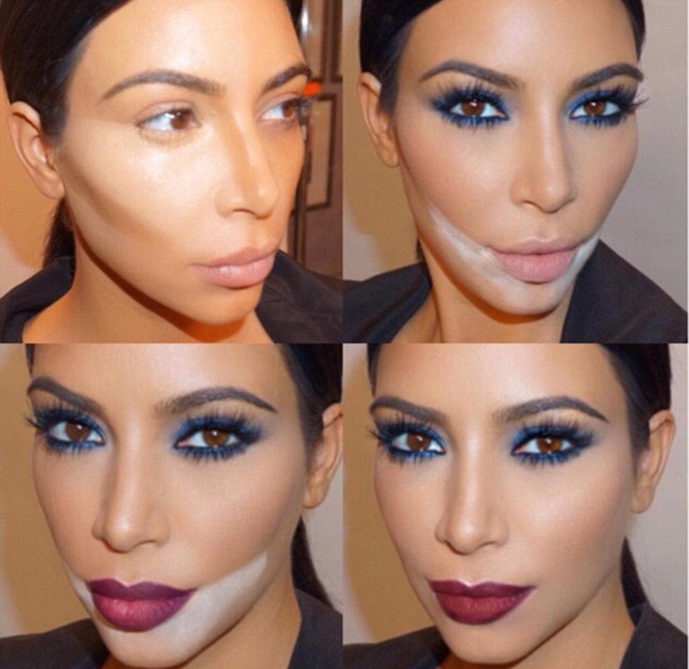 Hoe Kim Kardashian het contouren en shapen van het gezicht weer in de mode bracht.