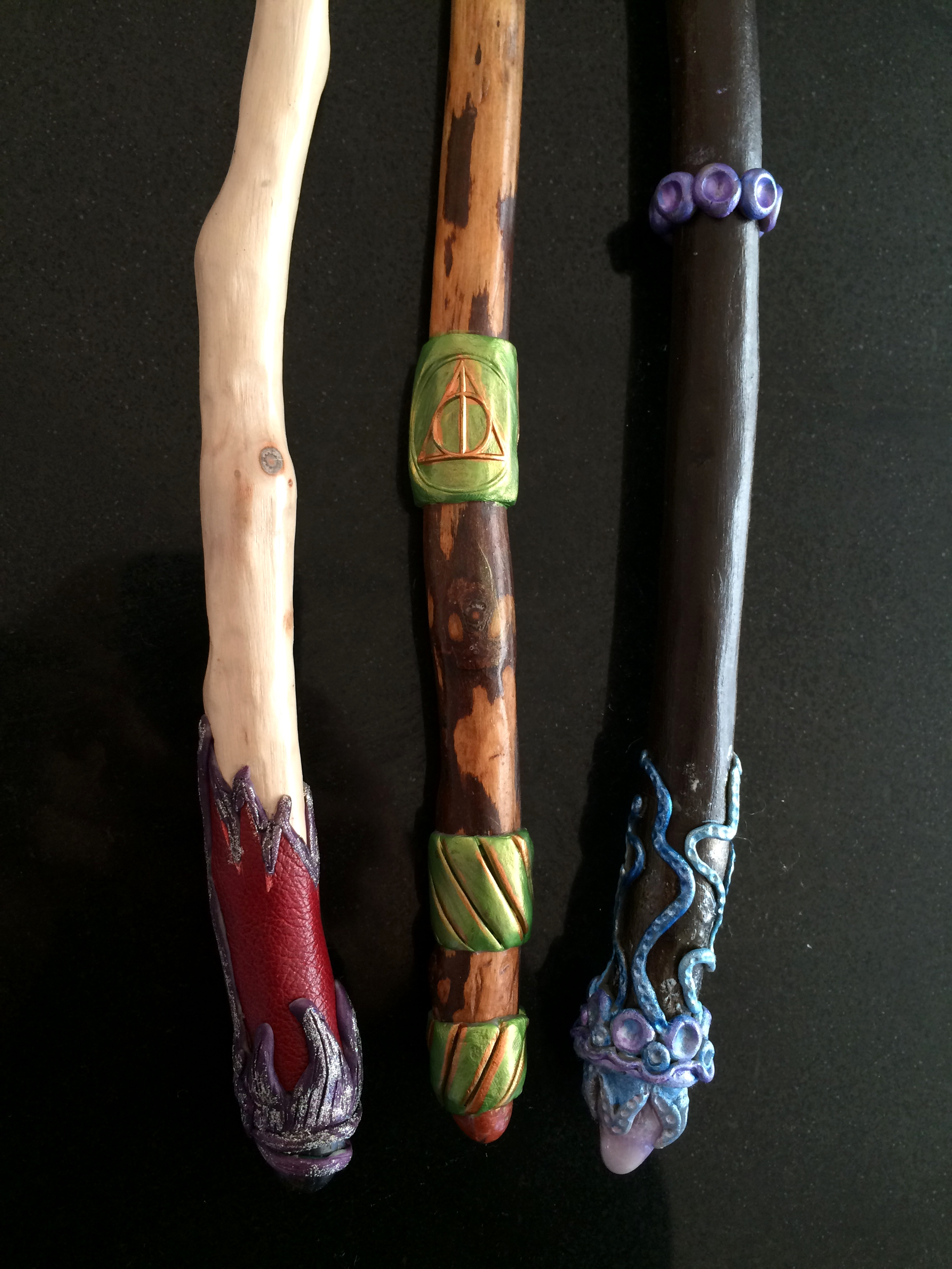 The work of master wandmaker Kirstin Hobbliknob, Headmistress of Fiddleheart Academy.